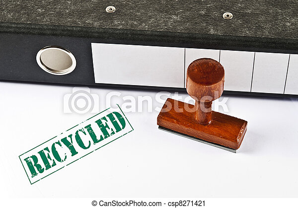 Recycled stamp - csp8271421