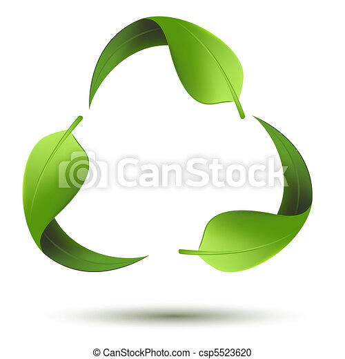 recyclez symbole, feuille - csp5523620