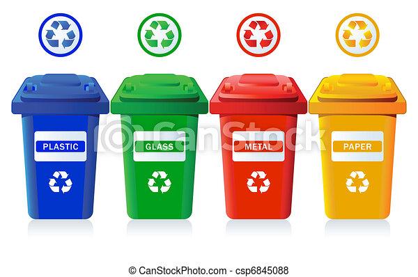 Recycling bins - csp6845088