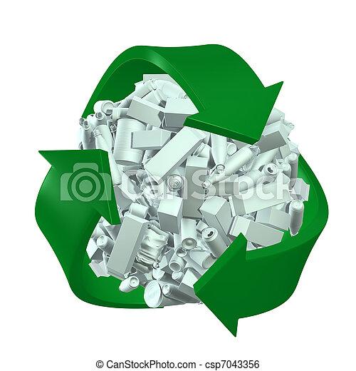 Recycling concept - csp7043356