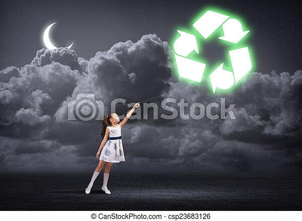 Recycling concept - csp23683126