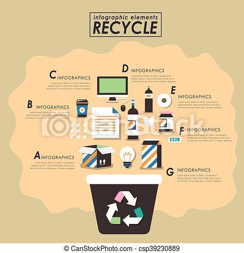 Recycling flat design - csp39230889