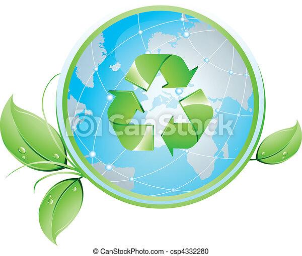 Recycling Globe - csp4332280