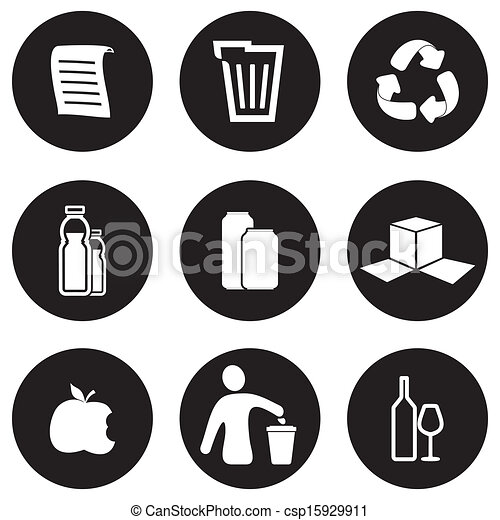 Recycling icon set - csp15929911