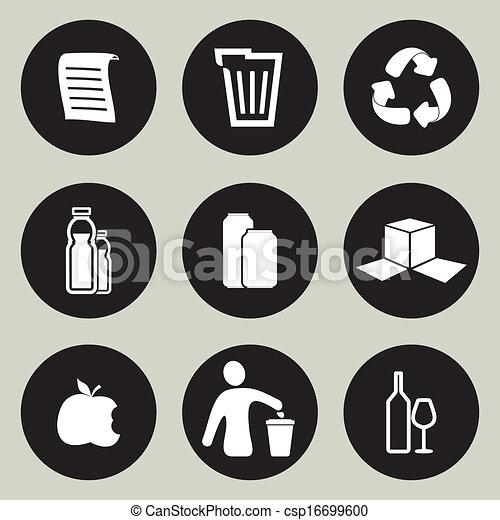 Recycling icon set - csp16699600