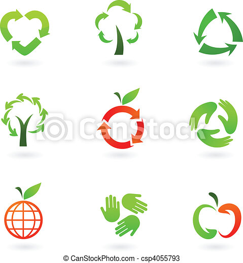 Recycling icons - csp4055793