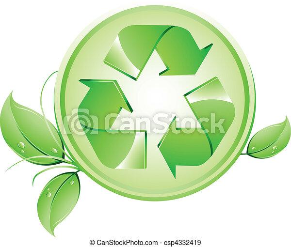 Recycling logo - csp4332419