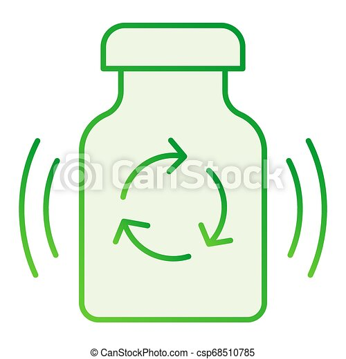 Recycling medication flat icon. Recycle drugs gray icons in trendy flat style. Medicine pills recycling gradient style design, designed for web and app. Eps 10. - csp68510785