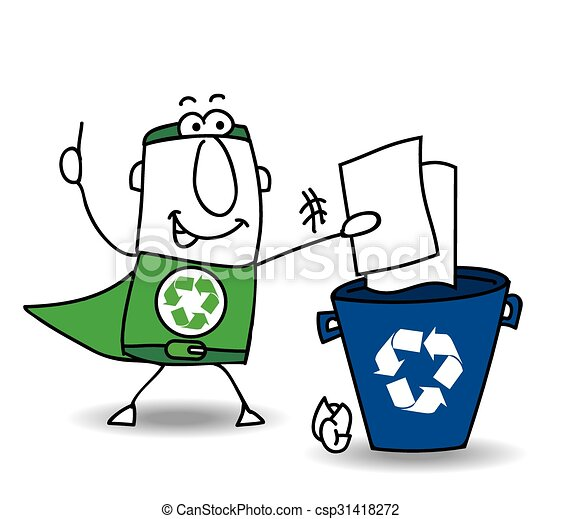 recycling paper recycle man the superhero recycles paper vectors rh canstockphoto com recycle clip art free recycling clip art images