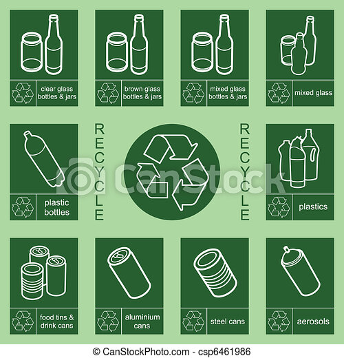 recycling sign  - csp6461986