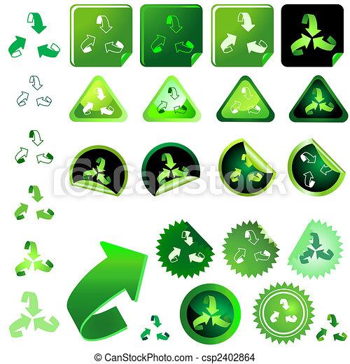 Recycling Symbol Set