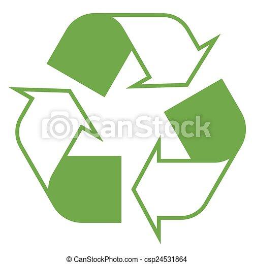 Recycling symbol green - csp24531864
