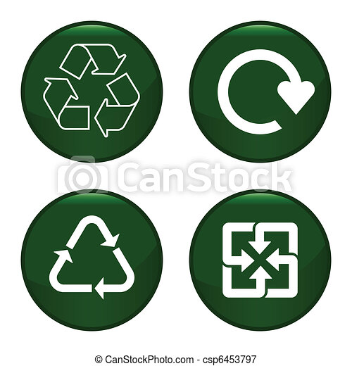 Recycling symbol icon  - csp6453797