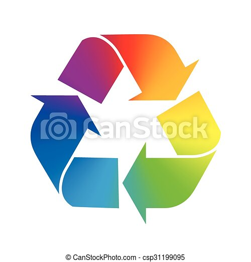 Recycling Symbol Rainbow Colors Recycling Symbol Rainbow Gradient