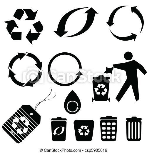 Recycling Symbols Various Recycling Symbols And Icons
