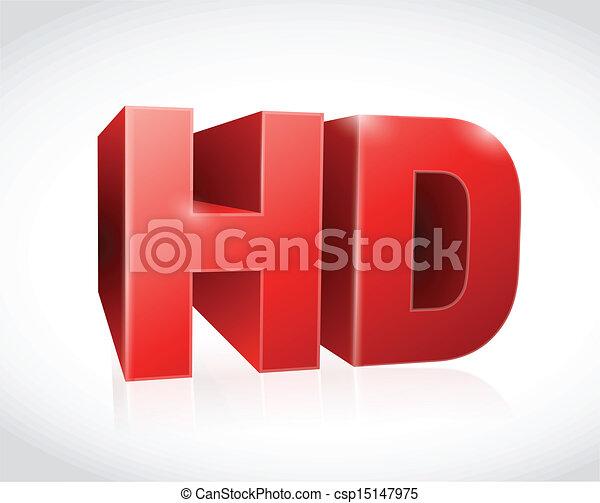 red 3d hd text illustration design - csp15147975