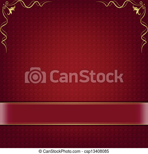 Red abstract background - csp13408085