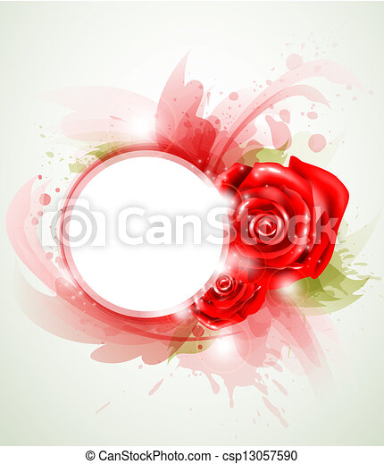 Red abstract rose - csp13057590