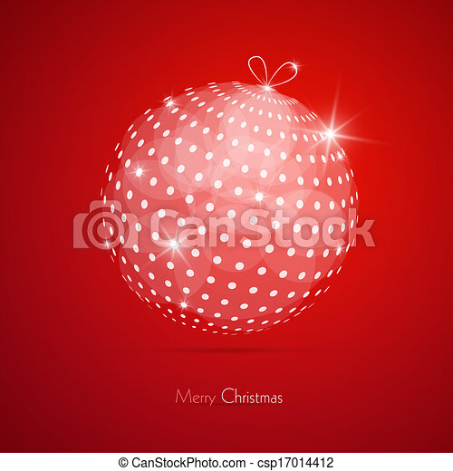 Red Abstract Vector Merry Christmas Background - csp17014412