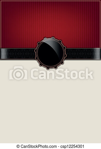 Red abstract vintage card - csp12254301