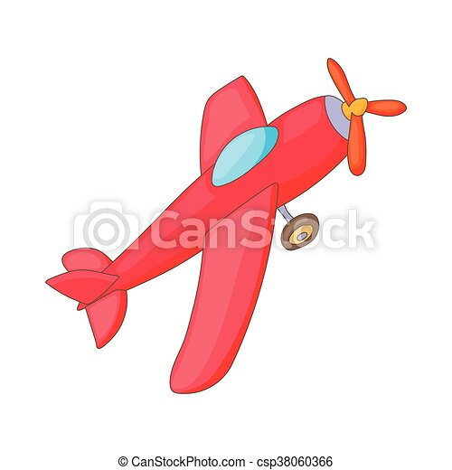 Red aircraft icon, cartoon style - csp38060366