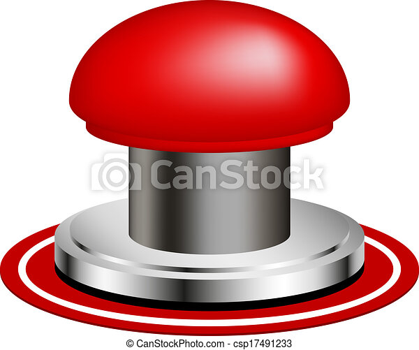 Red alert push button - csp17491233