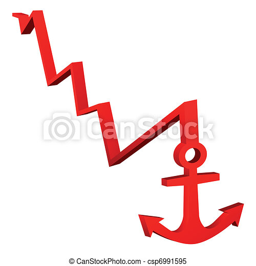 Red Anchor On White