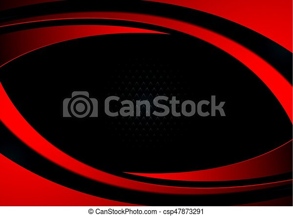 Red and black abstract wavy background - csp47873291