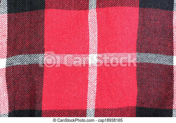 Red And Black Checkered Pattern On Fabric Red And Black Checkered