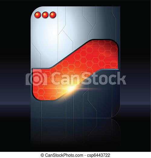 Red and black futuristic sign - csp6443722
