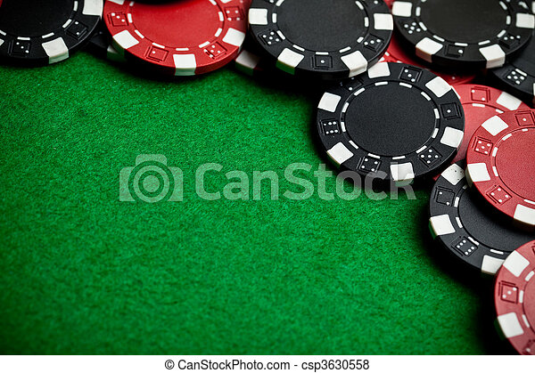 Red and black gambling chips - csp3630558