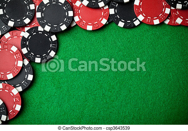 Red and black gambling chips - csp3643539