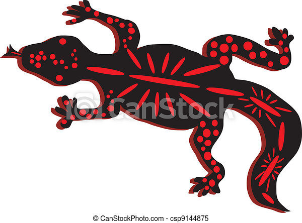 simple drawing of a red and black lizard with a spotted clipart rh canstockphoto com lizard clipart red