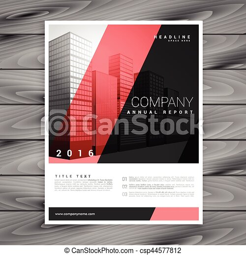 Red And Black Modern Brochure Flyer Design Template
