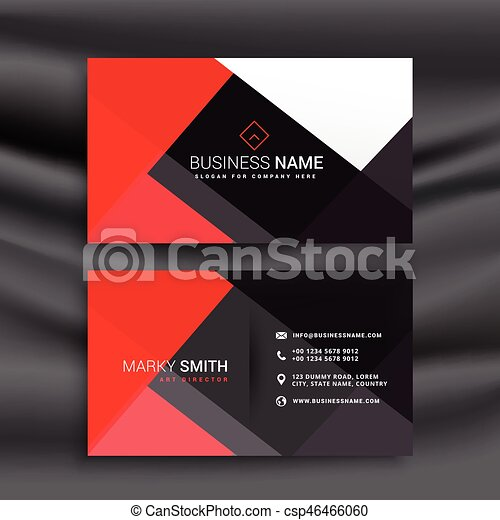Red and black professional business card red and black professional business card csp46466060 reheart Gallery