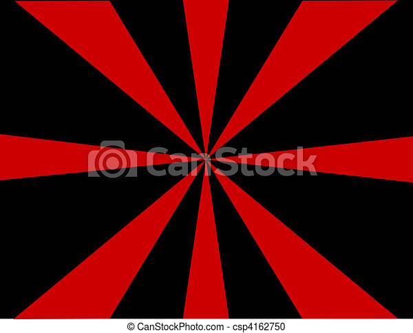 Red and Black Sunburst Background - csp4162750