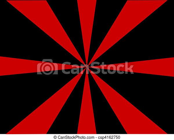 Red and Black Sunburst Background - csp4162750