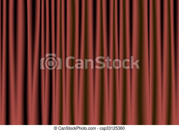 red and black theater curtain - csp33125360