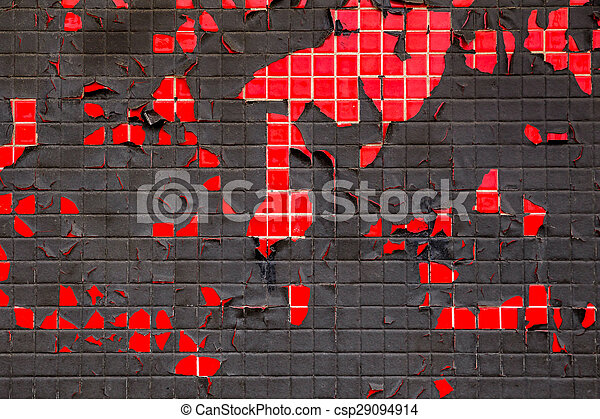 Red and Black Wall - csp29094914