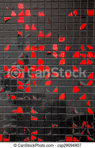 red and black wall - csp29094907