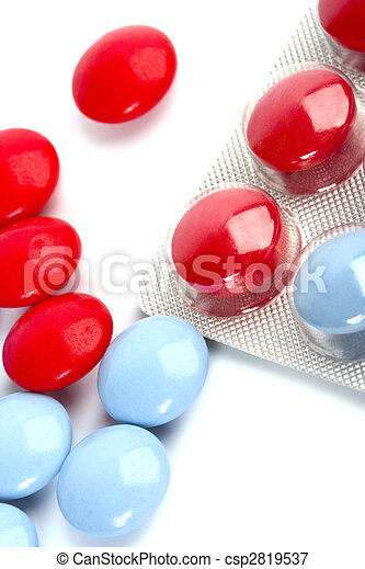 red and blue pills - csp2819537