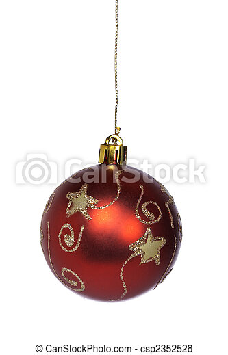 Red and gold Christmas ball - csp2352528