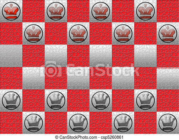 Red and gray checkerboard - csp5260861