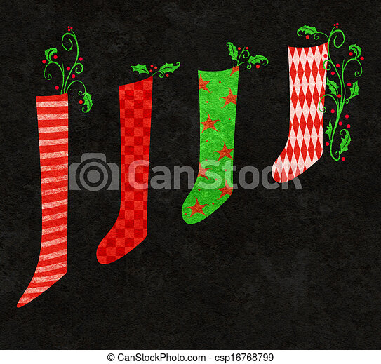 red and green christmas stockings - Red And Green Christmas Stockings