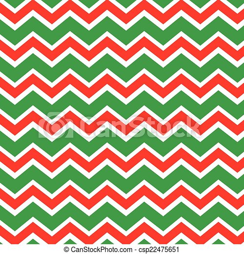 red and green christmas zig zag csp22475651 - Why Are Red And Green Christmas Colors