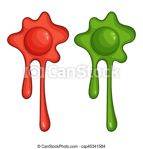 red and green slime spot icon cartoon style red and green stock rh canstockphoto com fluffy slime clipart slime clipart png