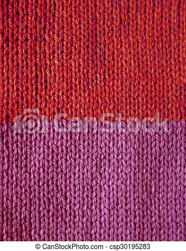 Red And Purple Striped Stocking Stitch Knitting As An Abstract