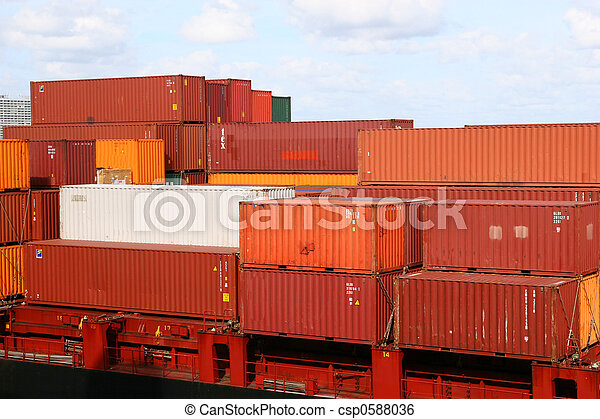 Red and White Containers - csp0588036