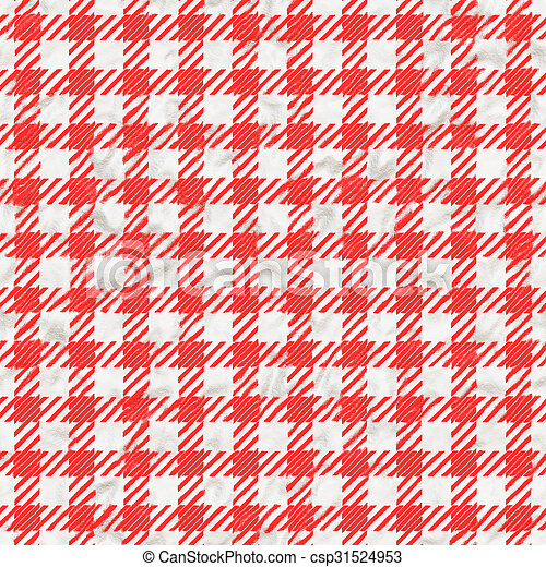 Red And White Gingham Tablecloth Texture Seamless   Csp31524953