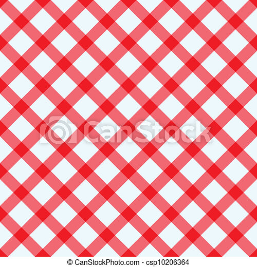 Red and white tablecloth - csp10206364